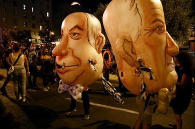Протест против Биньямина Нетаниягу